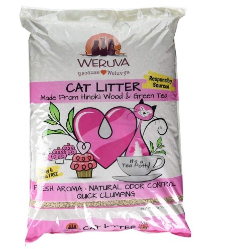 Weruva It's A Tea Potty! Hinoki Wood & Green Tea Natural Cat Litter
