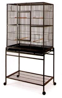 Large Wrought Iron Flight Canary Parakeet Cockatiel Lovebird Finch Cage With Removable Stand 15 Black Bird Cage