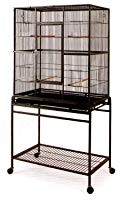Large Wrought Iron Flight Canary Parakeet Cockatiel Lovebird Finch Cage With Removable Stand #15 Black Bird Cage