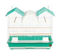 Prevue Hendryx SP1804TR-2 Triple Roof Bird Cage, Teal and White