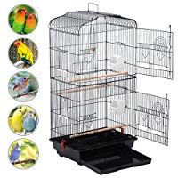 Yaheetech 36' Medium Size Quaker Parrot Bird Cage Cockatiel Indian Ring Neck Sun Parakeet Green Cheek Conures Lovebirds Budgies Canary