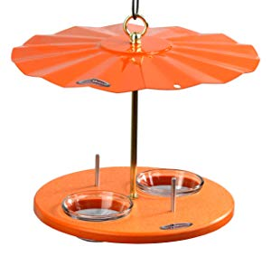 Kettle Moraine Recycled Orange Oriole Fruit, Jelly, Mealworm Bird Feeder