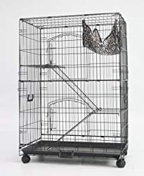 "Homey Pet 36"" Black Wire Chinchilla Cage"