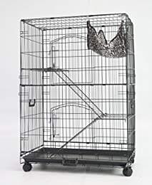 """Homey Pet 36"""" Black Wire Ferret Cage"""