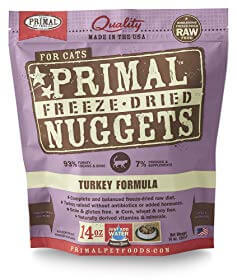 Primal Pet Foods Freeze-Dried Feline Turkey Formula