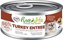 Pure Vita 96% Grain Free Turkey & Turkey Liver Entree