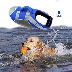 BOCHO Wave Rider's Reflective Dog Life Jacket