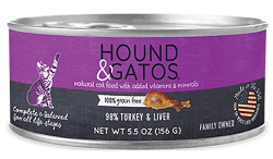 Hound & Gatos Turkey & Turkey Liver Canned Cat Food