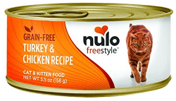 Nulo Freestyle Turkey & Chicken Recipe Grain-Free Canned Cat & Kitten Food