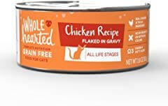 WholeHearted All Life Stages Canned Cat Food - Grain Free Chicken Recipe Flaked in Gravy