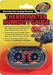 Zoo Med Economy Analog Dual Thermometer Humidity Gauge