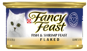 Fancy Feast Flaked Fish & Shrimp Feast