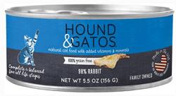 Hound & Gatos Rabbit Formula Canned Cat Food