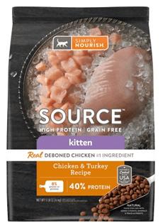 Simply Nourish Source Chicken & Turkey Recipe High-Protein Grain-Free Kitten Dry Cat Food