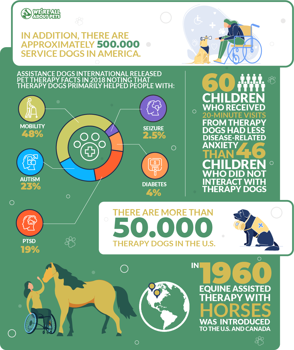 Service and therapy pets statistics