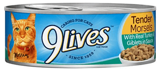 9Lives Tender Morsels with Real Turkey & Giblets in Sauce Canned Food