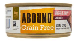 Abound Grain-Free Shredded Salmon & Chicken Recipe in Gravy