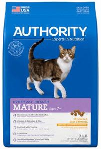 Authority Chicken & Rice Formula Mature Dry Cat Food