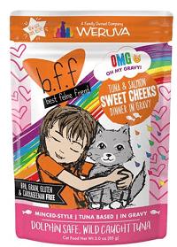 B.F.F. Omg! Tuna & Salmon Sweet Cheeks Dinner in Gravy Pouches