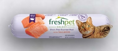 FreshPet Select Grain Free Gourmet Pate with Salmon for Cats Roll