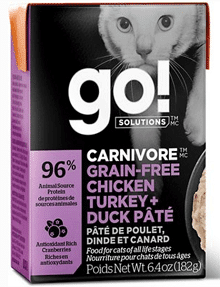 Carnivore Grain-Free Chicken, Turkey + Duck Pate