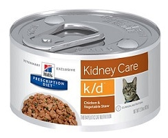 Hill's Prescription Diet k/d Kidney Care Chicken & Vegetable Stew Canned Food