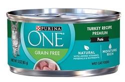 Purina ONE Turkey Recipe Pate Grain-Free Canned Cat Food