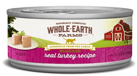 Whole Earth Farms Grain-Free Real Turkey Pate Recipe Canned Food