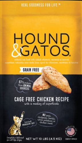 Hound & Gatos Grain-Free Cage-Free Chicken Recipe Dry Food
