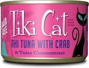 Tiki Cat Hana Grill Ahi Tuna with Crab In Tuna Consommé