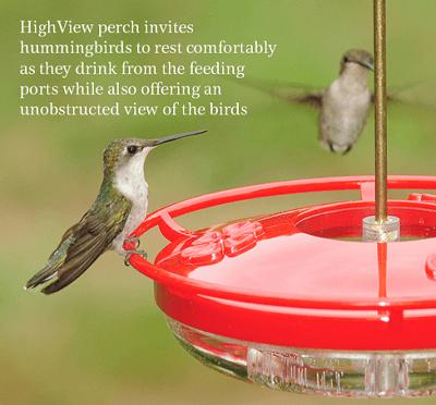 Aspects HummZinger HighView 12 Oz Hanging Hummingbird Feeder