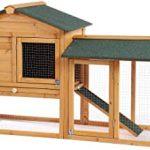 B BAIJIAWEI Wooden Rabbit Hutch Bunny Cage Outdoor