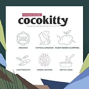 CocoKitty All-Natural Lightweight Long-Lasting Coconut Cat Litter