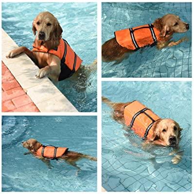 Doglay Dog Life Jacket with Reflective Stripes