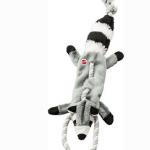 Ethical Pet Mini Skinneeez Tugs Raccoon Stuffing-Free Squeaky Plush Dog Toy
