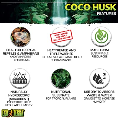 Exo Terra Coco Husk Brick Tropical Terrarium Reptile Substrate