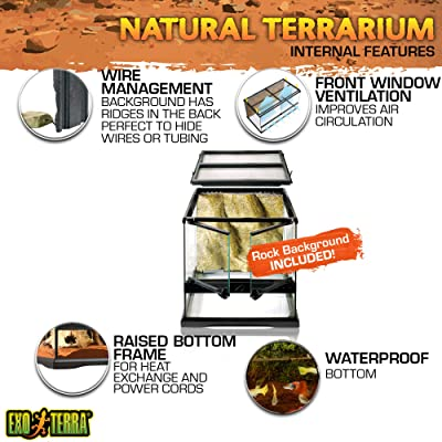 Exo Terra Glass Terrarium Kit, for Reptiles and Amphibians