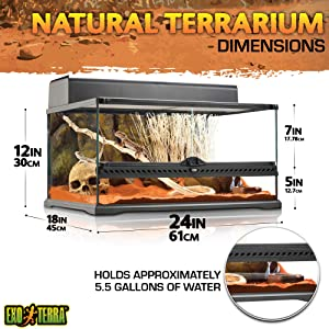 Exo Terra Outback 24x18x12 Inch Terrarium