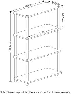 Furinno Turn-N-Tube 4-Tier Multipurpose Shelf Display Rack
