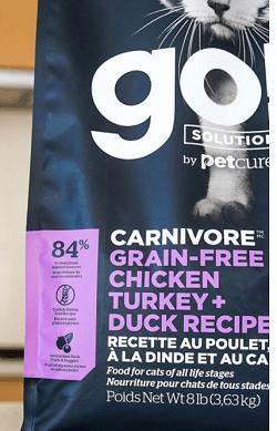 Go! Solutions Carnivore Grain-Free Chicken, Turkey + Duck Recipe Dry Cat Food