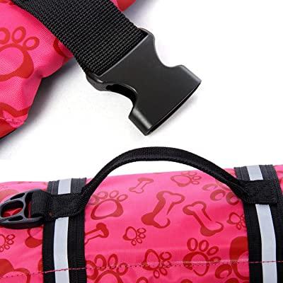HAOCOO Dog Life Jacket Vest Saver Safety Swimsuit