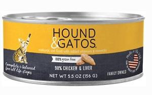 Hound & Gatos 98% Chicken & Liver Grain-Free Canned Cat Food