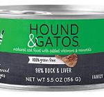 Hound & Gatos Wet Cat Food, 98% Duck & Liver