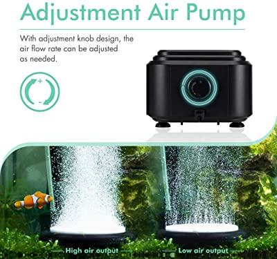 Hygger Quiet High Output Aquarium Air Pump