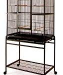 Mcage Large Wrought Iron Flight Cage with Removable Stand