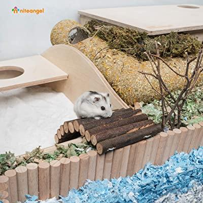 Niteangel Wooden Ladder Small Animal Bridge