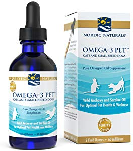 Nordic Naturals Omega-3 Pet Cats & Small Breed Dog & Cat Supplement