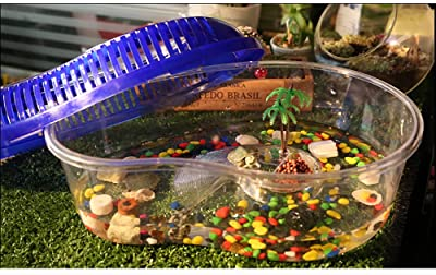 OMEM Portable Reptile House Terrarium Habitat Clear and Breathable