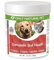 Only Natural Pet Complete Gut Health Probiotic & Enzyme Digestive Powder Dog & Cat Supplement