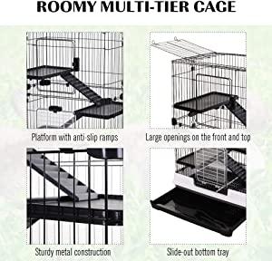 "PawHut 32""L 4-Level Indoor Small Animal Rabbit Cage"